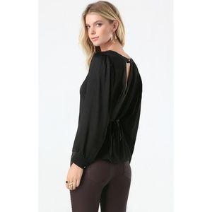 Bebe   Black Silk Dolman Sleeve Top